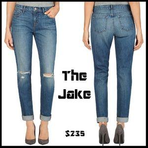 J Brand Jake Slim Boyfriend Distressed Torn Jeans